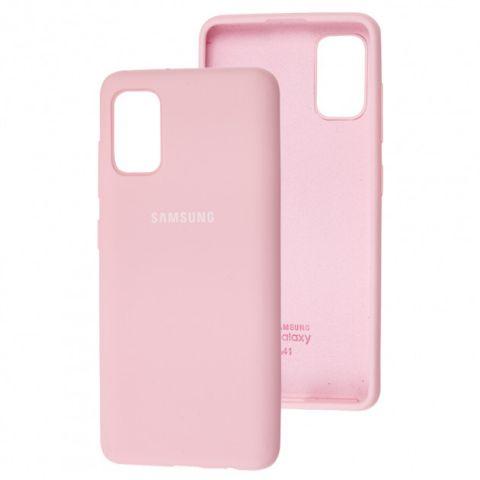 Чехол для Samsung Galaxy A41 (A415) Silicone Full-Light Pink