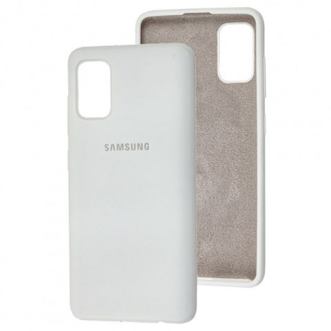 Чехол для Samsung Galaxy A41 (A415) Silicone Full-White