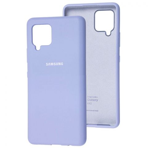 Силиконовый чехол для Samsung Galaxy A42 (A426) Silicone Full-Light Violet