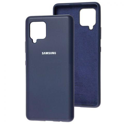 Силиконовый чехол для Samsung Galaxy A42 (A426) Silicone Full-Midnight Blue