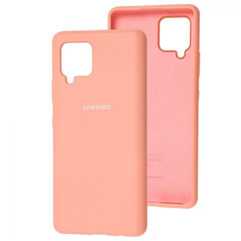 Силиконовый чехол для Samsung Galaxy A42 (A426) Silicone Full-Pink
