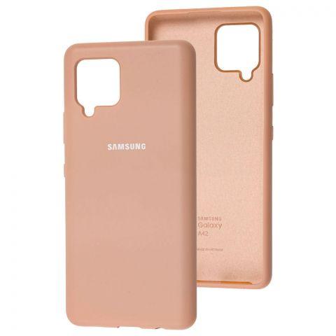 Силиконовый чехол для Samsung Galaxy A42 (A426) Silicone Full-Pink Sand