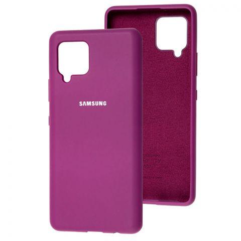 Силиконовый чехол для Samsung Galaxy A42 (A426) Silicone Full-Purple