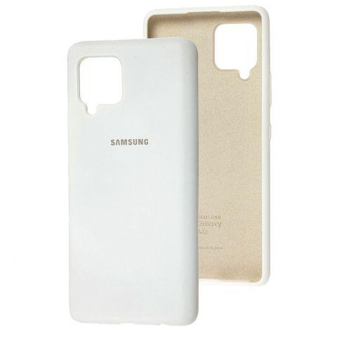 Силиконовый чехол для Samsung Galaxy A42 (A426) Silicone Full-White