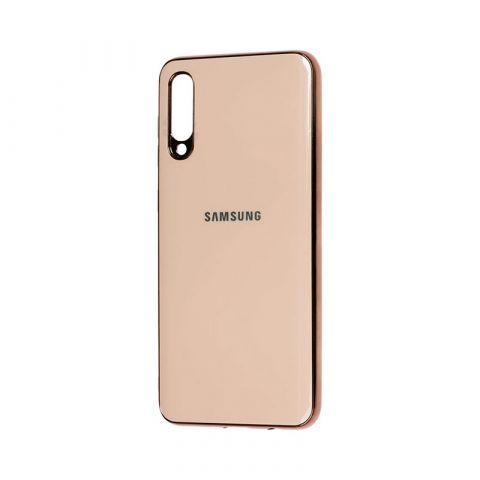 Чехол для Samsung Galaxy A50 (A505) Glass Silicone Case-Coffee