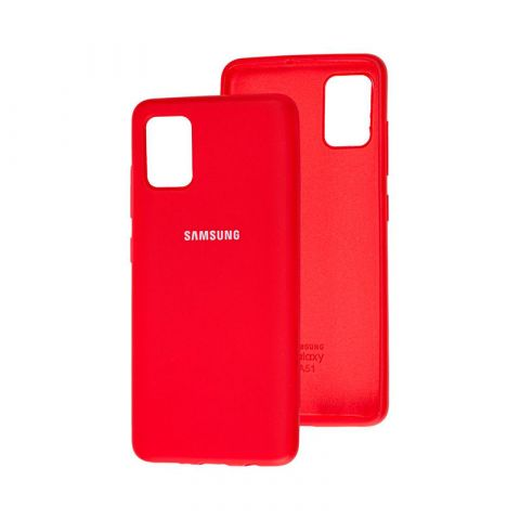 Чехол для Samsung Galaxy A51 (A515) Silicone Full-Dark Red