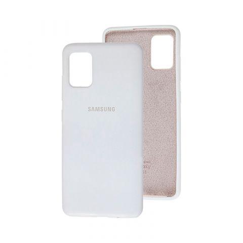 Чехол для Samsung Galaxy A51 (A515) Silicone Full-White