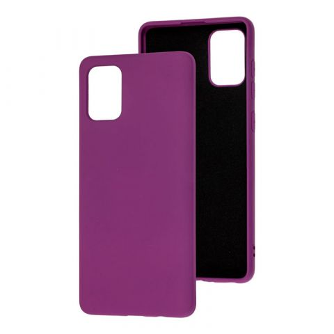 Силиконовый чехол для Samsung Galaxy A51 (A515) Silicone Full without Logo-Purple