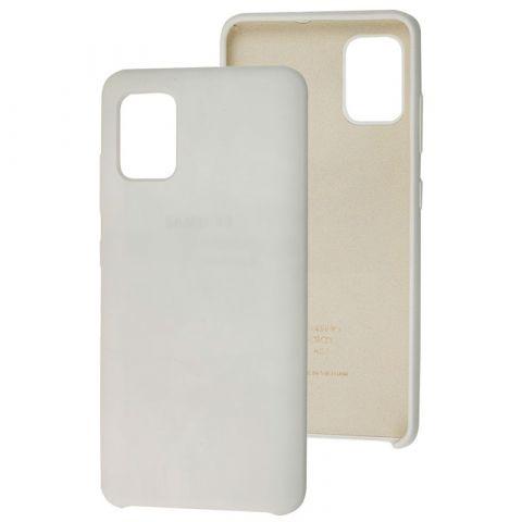 Чехол для Samsung Galaxy A51 (A515) Soft Touch Silicone Cover-White