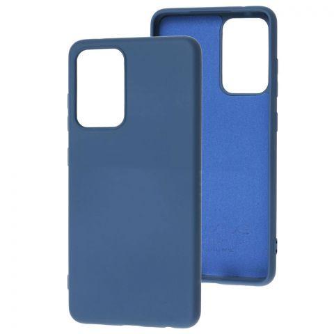 Силиконовый чехол для Samsung Galaxy A52 (A526) Wave Colorful-Blue