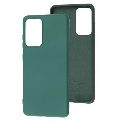 Силиконовый чехол для Samsung Galaxy A52 (A526) Wave Colorful-Forest Green