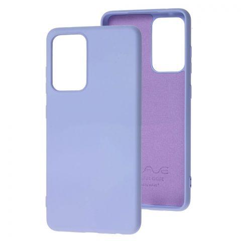 Силиконовый чехол для Samsung Galaxy A52 (A526) Wave Colorful-Light Violet