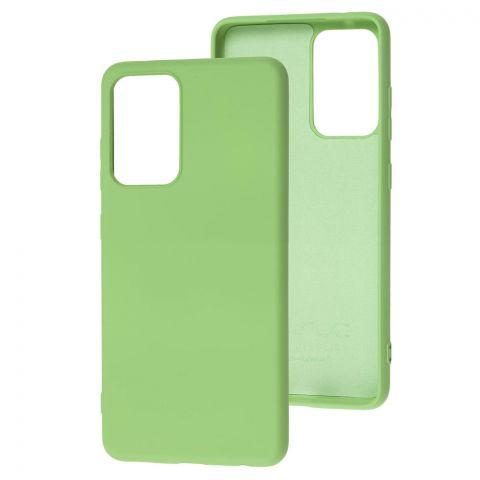 Силиконовый чехол для Samsung Galaxy A52 (A526) Wave Colorful-Mint