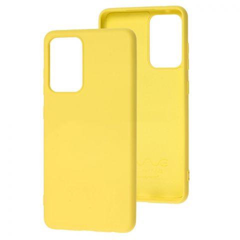 Силиконовый чехол для Samsung Galaxy A52 (A526) Wave Colorful-Yellow