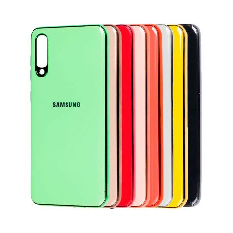 Чехол для Samsung Galaxy A70 (A705) Glass Silicone Case