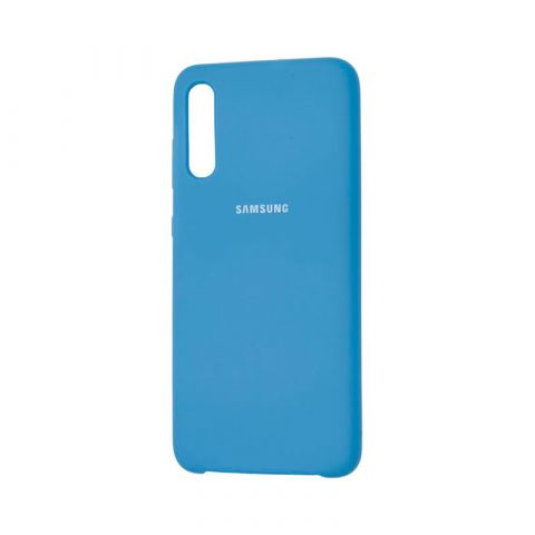 Чехол для Samsung Galaxy A70 (A705) Soft Touch Silicone Cover-Blue Cobalt