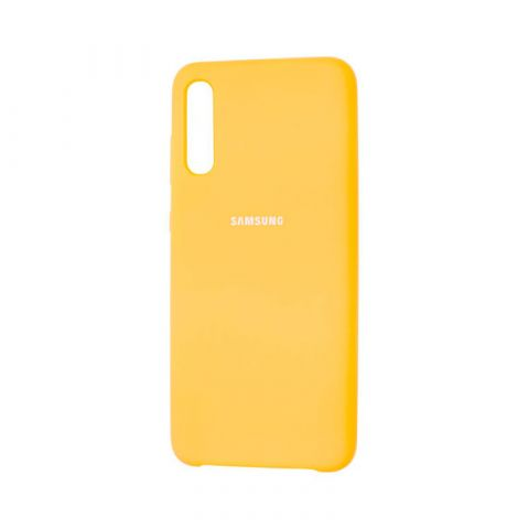 Чехол для Samsung Galaxy A70 (A705) Soft Touch Silicone Cover-Yellow