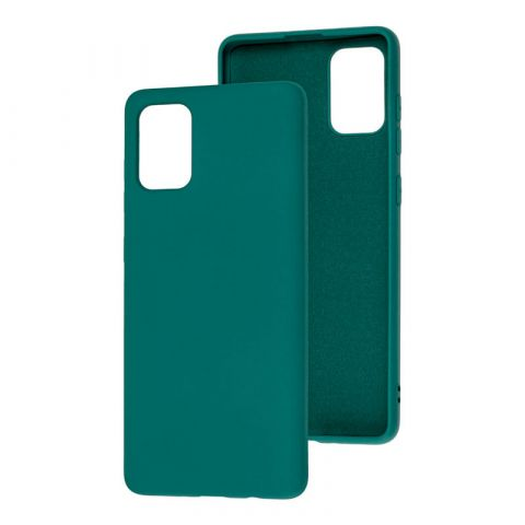 Силиконовый чехол для Samsung Galaxy A71 (A715) Silicone Full without Logo-Pine Green