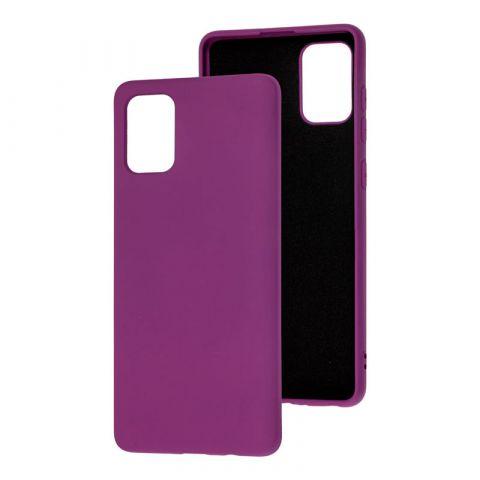 Силиконовый чехол для Samsung Galaxy A71 (A715) Silicone Full without Logo-Purple