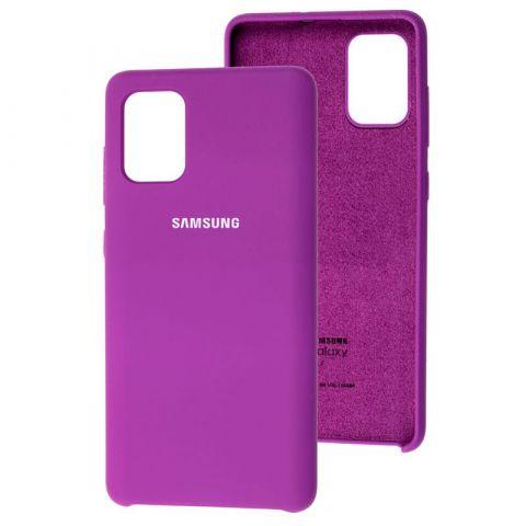 Силиконовый чехол для Samsung Galaxy A71 (A715) Soft Touch Silicone Cover-Purple