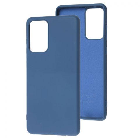 Силиконовый чехол для Samsung Galaxy A72 (A726) Wave Colorful-Blue