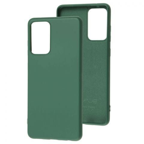 Силиконовый чехол для Samsung Galaxy A72 (A726) Wave Colorful-Forest Green