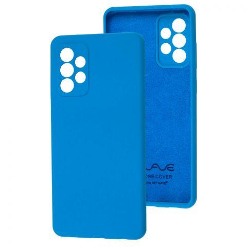 Силиконовый чехол для Samsung Galaxy A72 (A726) Wave Full-Blue
