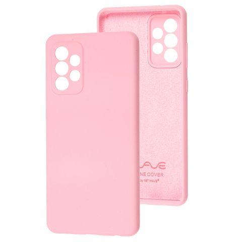 Силиконовый чехол для Samsung Galaxy A72 (A726) Wave Full-Light Pink