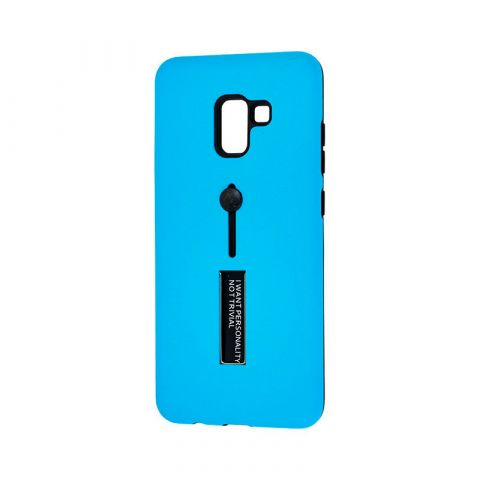 Чехол для Samsung Galaxy A8 Plus 2018 (A730) Kickstand-Light Blue