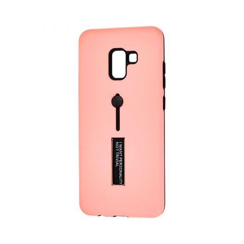 Чехол для Samsung Galaxy A8 Plus 2018 (A730) Kickstand-Peach