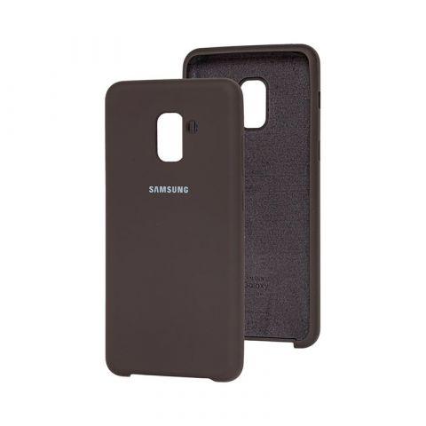 Чехол для Samsung Galaxy A8 Plus 2018 (A730) Soft Touch Silicone Cover-Coffee