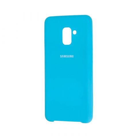 Чехол для Samsung Galaxy A8 Plus 2018 (A730) Soft Touch Silicone Cover-Light Blue