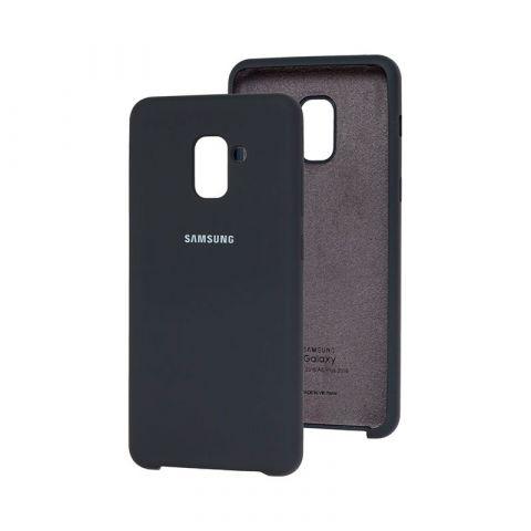 Чехол для Samsung Galaxy A8 Plus 2018 (A730) Soft Touch Silicone Cover-Midnight Blue