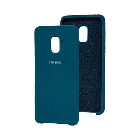 Чехол для Samsung Galaxy A8 Plus 2018 (A730) Soft Touch Silicone Cover-Ocean Blue