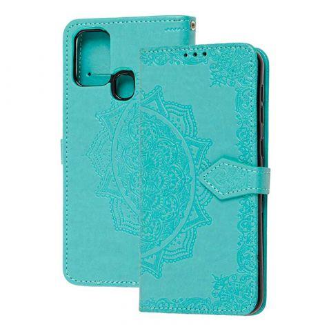 Чехол-книжка для Samsung Galaxy M31 (M315) Art с визитницей-Turquoise