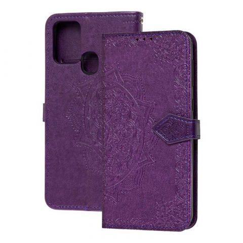 Чехол-книжка для Samsung Galaxy M31 (M315) Art с визитницей-Ultra Violet