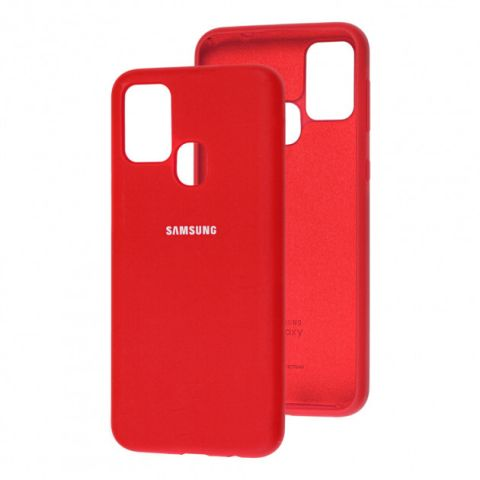 Чехол для Samsung Galaxy M31 (M315) Silicone Full-Dark Red