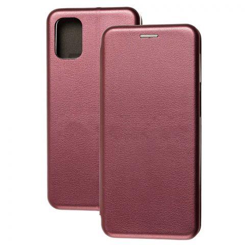 Чехол-книжка для Samsung Galaxy M31s (M317) Premium-Bordo