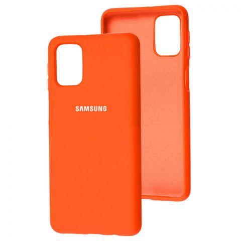 Силиконовый чехол для Samsung Galaxy M31s (M317) Silicone Full-Orange