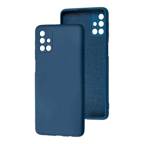 Силиконовый чехол для Samsung Galaxy M31s (M317) Wave Colorful-Blue