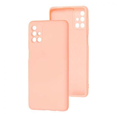 Силиконовый чехол для Samsung Galaxy M31s (M317) Wave Colorful-Pink Sand