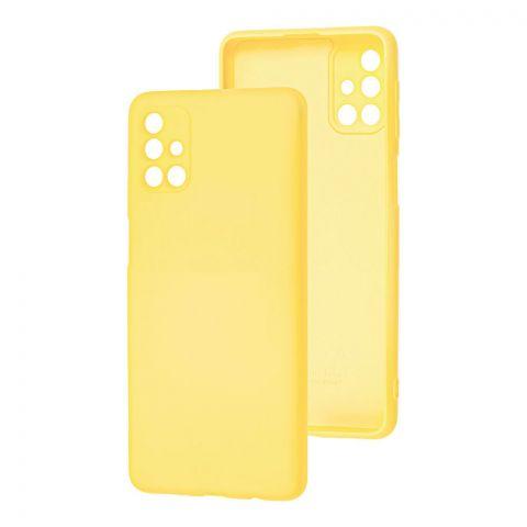 Силиконовый чехол для Samsung Galaxy M31s (M317) Wave Colorful-Yellow