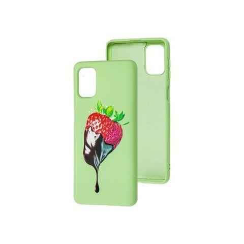 Силиконовый чехол для Samsung Galaxy M51 (M515) Art Case-Green