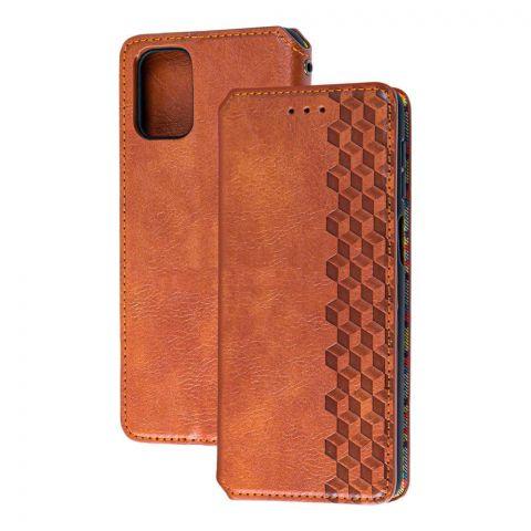 Чехол-книжка для Samsung Galaxy M51 (M515) Getman Cubic-Brown