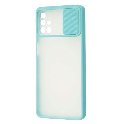 Чехол для Samsung Galaxy M51 (M515) LikGus Camshield camera protect (с защитой камеры)-Turquoise