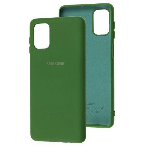Силиконовый чехол для Samsung Galaxy M51 (M515) Silicone Full-Dark Green