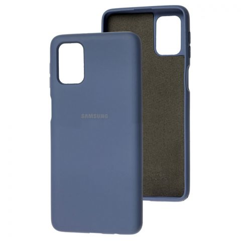 Силиконовый чехол для Samsung Galaxy M51 (M515) Silicone Full-Lavender Gray
