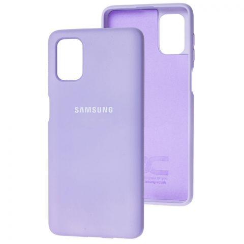 Силиконовый чехол для Samsung Galaxy M51 (M515) Silicone Full-Light Violet