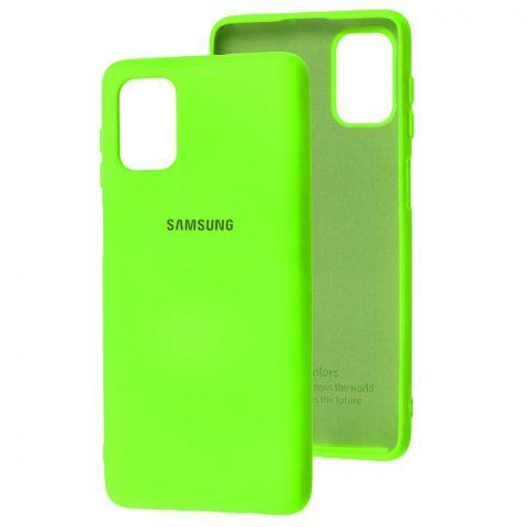 Силиконовый чехол для Samsung Galaxy M51 (M515) Silicone Full-Lime