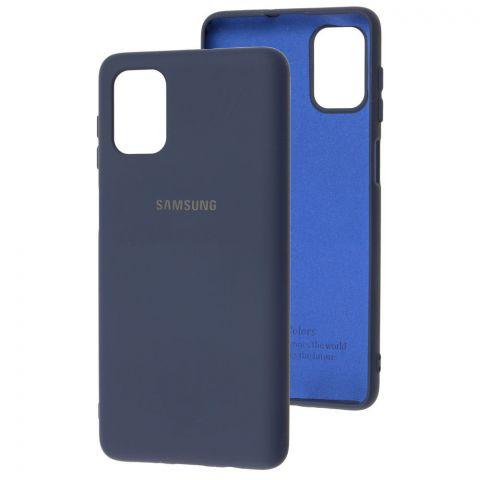 Силиконовый чехол для Samsung Galaxy M51 (M515) Silicone Full-Midnight Blue